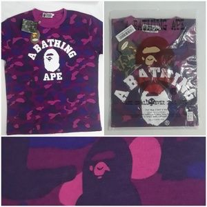 BAPE A Bathing Ape Purple Camo SS T-Shirt